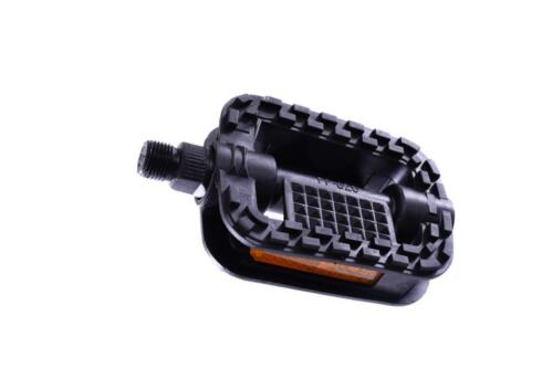 """BARGAIN PRICE BIKE PEDALS DOUBLE GRIP MOULDING 9//16"""" STANDARD CYCLE PEDALS BLK"""