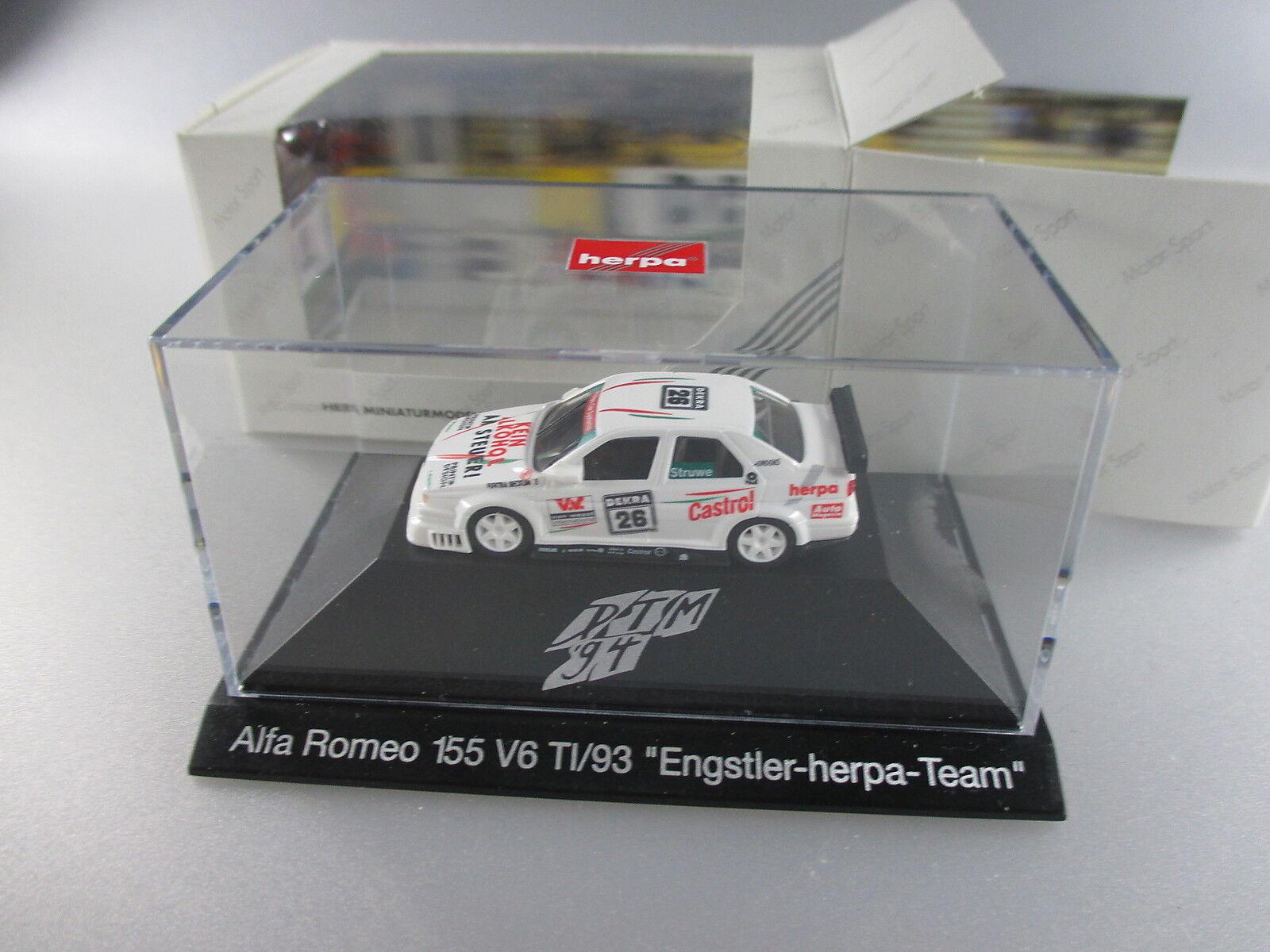 Herpa Herpa Herpa  motor sport nº 036061 dtm´94 Alfa Romeo 155 v6 t1 engstler Herpa (gk9)  más descuento