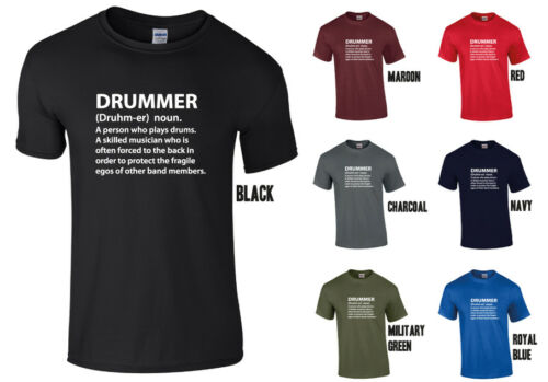 Rude Funny Fart Joke Music Sarcastic Drummer Dictionary Definition T-SHIRT