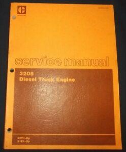 CAT-CATERPILLAR-3208-TRUCK-ENGINE-SERVICE-SHOP-REPAIR-BOOK-MANUAL-32Y-51Z