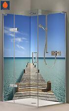 Eck Duschrückwand, Duschrückwände Alu-Dibond, Fliesenspiegel, Fliesen, Malediven