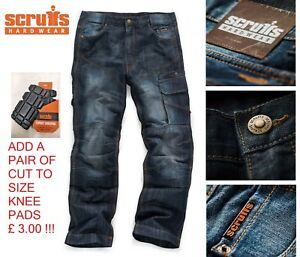 SCRUFFS-TRADE-DENIM-WORK-JEANS-CARGO-WORKER-TROUSERS-PRO-COMBAT