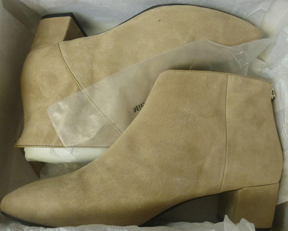 NINE WEST Anura femmes Ankle bottes 8.5 M Light Natural Leather NEW
