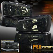 [SMOKE] 2003-2006 Chevy Silverado 1500 2500 3500 Headlight+Signal Bumper Light