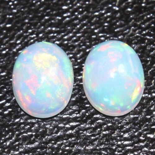 Gorgeous Natural ETHIOPIAN OPAL Gemstone 1 Pair Choose From Variation #0135