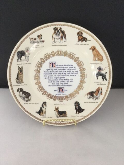"""Aynsley """"The Dog"""" 10 3/4"""" Plate                                            #757"""