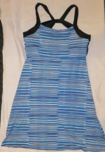 6bfda8f028e3e NWT Soybu Athletic Sport Yoga Dress Size XS X-Small Blue Stripes | eBay