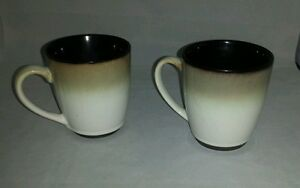 Set of 2 Sango Nova Black Coffee Mugs 4932 | eBay