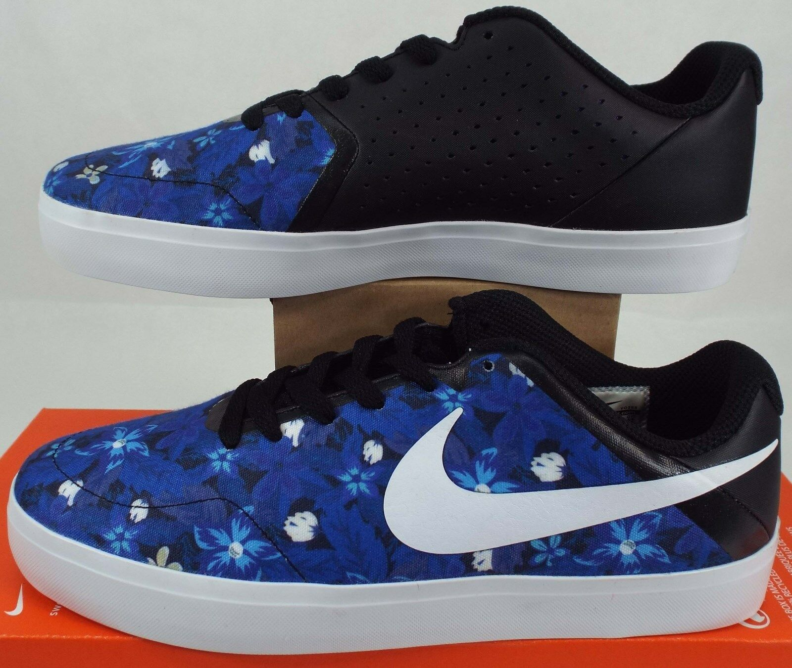 RARE SAMPLE Mens 9 NIKE SB P.ROD Rodriguez bluee Flowers shoes 705194-910