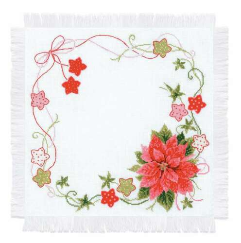 """RIOLIS Counted Cross Stitch Kit 17.75/""""X17.75/"""" Christmas Table Top 499995441736"""