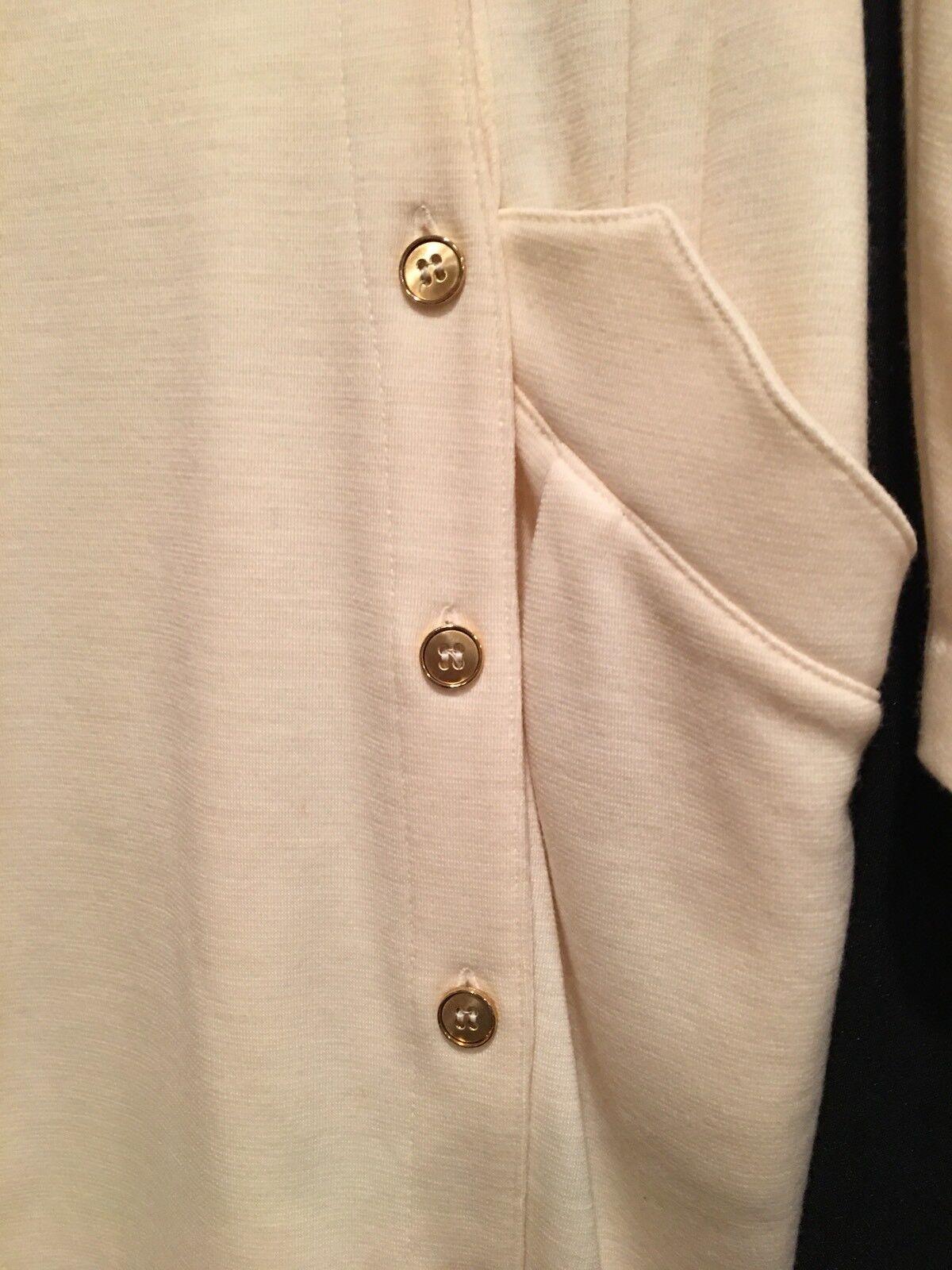 women Parker Ivory Wool Dress    Sz-8  France ce9653