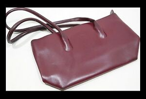 FURLA-Handtasche-LUXUS-Ledertasche-DAMENTASCHE-weinrot-LEDER-First-Class-SHOPPER
