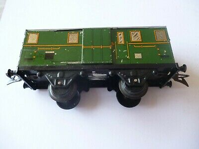 100% Vero French Serie Hornby Luggage Van Wagon Green+grey Gauge O No Box