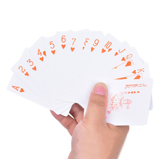 55pcs Waterproof Poker PVC Plastic Fluorescent Playing Cards Board GameEP