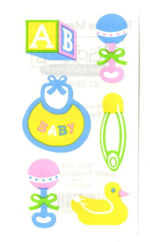 Baby Stickers Rattle Diaper Pin Rubber Ducky Bib Block Acid Free Frances Meyer