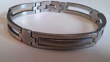 Silver Stainless Steel Chain  Link Bracelet Wristband for Men