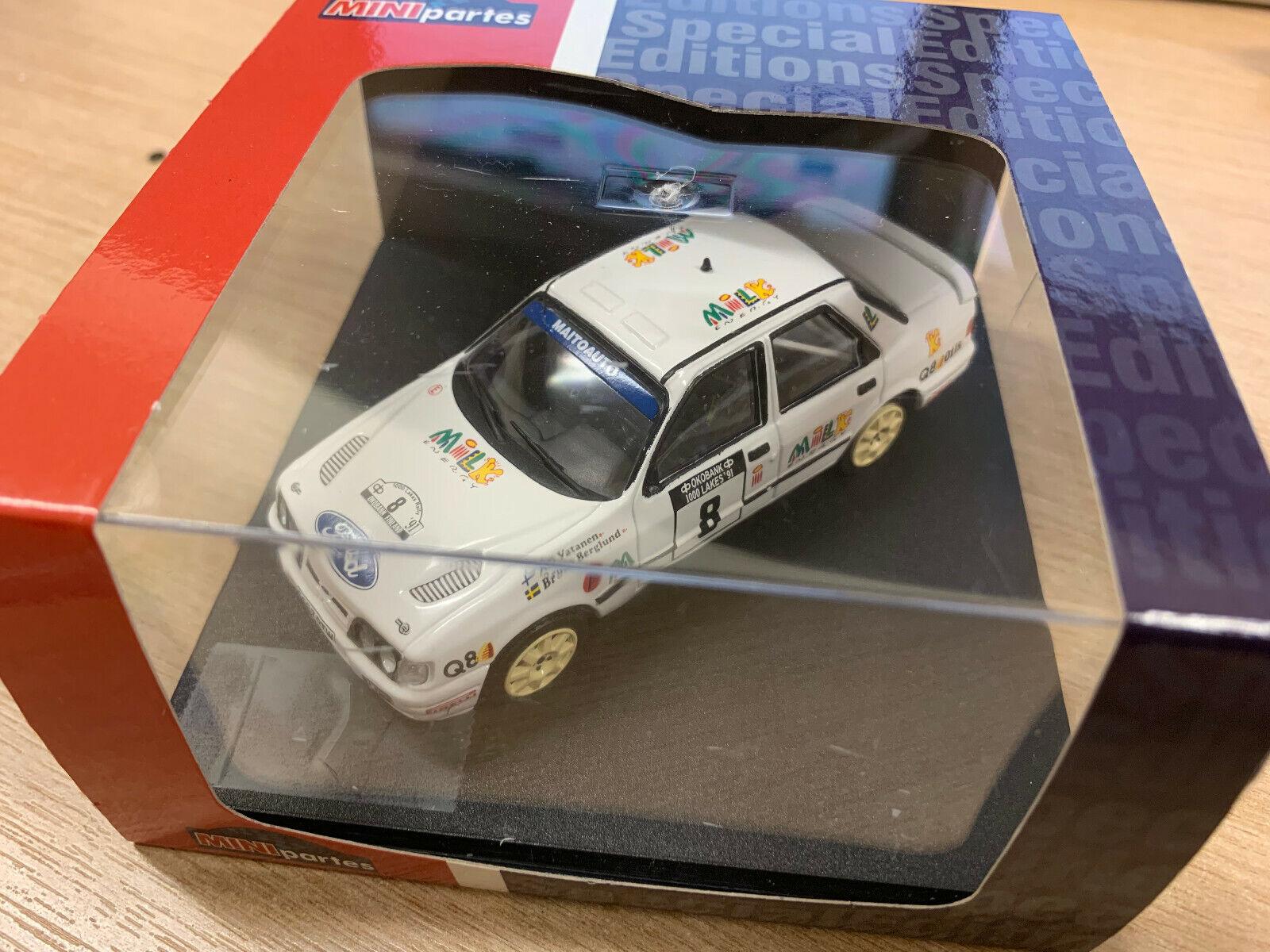 Trofeu 1 43 Ford Sierra Cosworth MNP225 4X4 7TH 1000 Lagos Rally 91 A. Señor Vatanen nos B.