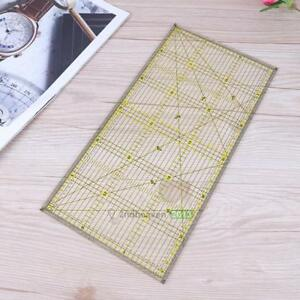 30X15cm-Clear-Acrylic-Quilting-Grid-Ruler-Patchwork-Tailor-Sewing-Cutting-Ruler