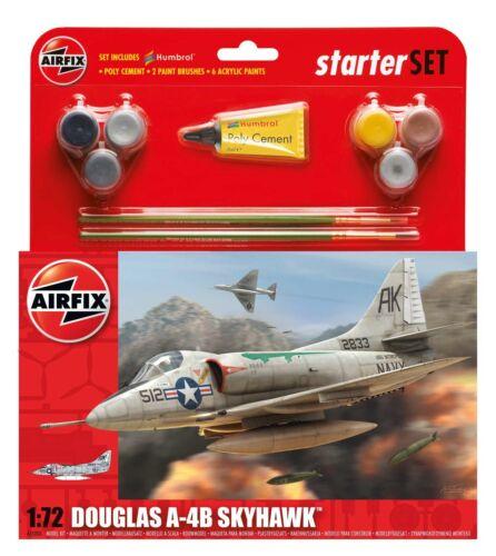 Airfix 1555203 Douglas A4-B Skyhawk Starter Set 1:72 Bausatz Modellbau Flugzeug