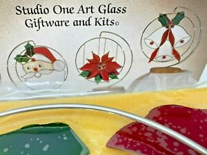 Venta-privada-solo-Studio-One-precortadas-vidrieras-Kit-Navidad-Poinsettia