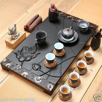 Chinese Traditional Style Travel Portable Teapot Cup Kit Stoneware Tea Set Tea Gift Set Drinking Tea can Help Break Down Fat