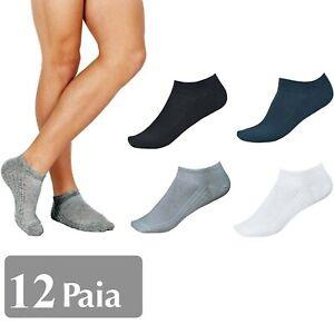 12-PAIA-CALZINI-FANTASMINI-UOMO-DONNA-ALLA-CAVIGLIA-IN-COTONE-MISURA-40-46-MNT