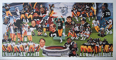 buy online a1e9b 414d3 Pittsburgh Steelers Team of the 70s Team Litho | eBay