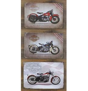 American Classic Motorcycle Bike Club Tin Sign Metal Wall Decor Garage