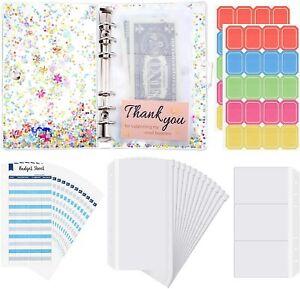 28 Pieces A6 Binder PVC Notebook Cover, Binder Budget Envelopes System Budget