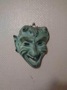 Ceramics-Wall-Mask-Devil-Bachus-Vintage-around-1950-60