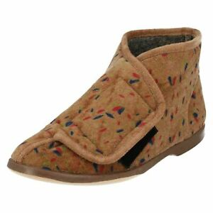 Lady Love /'Edith/' Ladies Blueberry Slipper Boots With RipTape Strap R5A