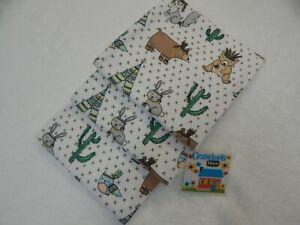 Burp Cloths Aqua Set of  Three Toweling Backed GREAT GIFT IDEA!!