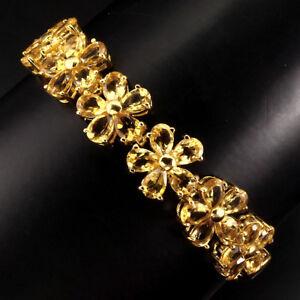 Sterling-Silver-925-Gold-Coated-Natural-Golden-Citrine-Bracelet-7-81-4-Inch