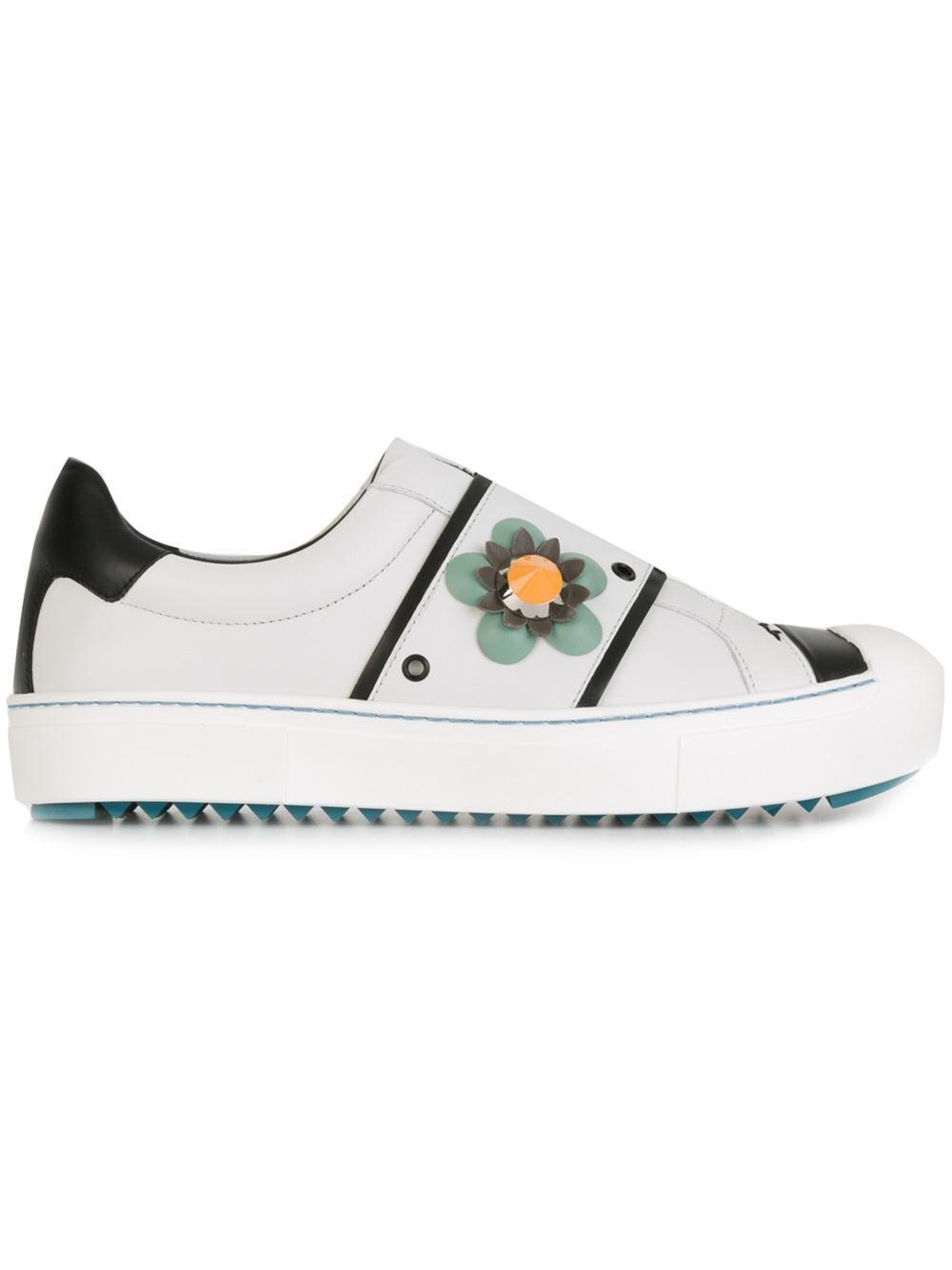 Zapatillas Fendi Fendi Fendi flor resbalón en  700 Mujer Zapatos 100% autentich g7wus  Entrega directa y rápida de fábrica