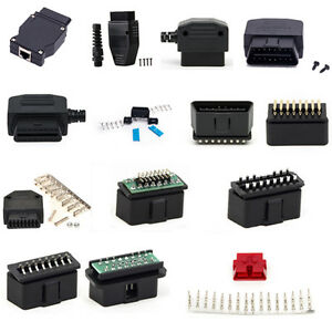 universal 16 pin obd 2 anschluss stecker auto. Black Bedroom Furniture Sets. Home Design Ideas