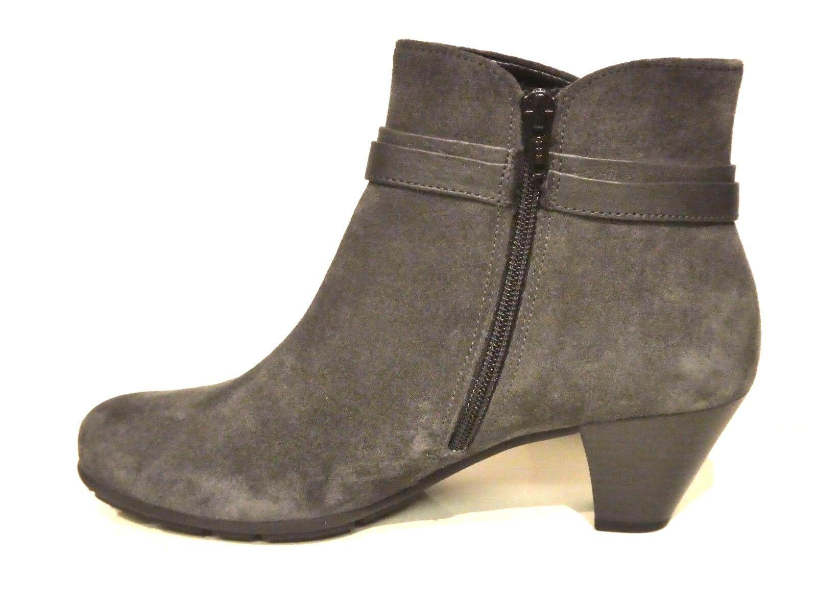 Gabor Pumps Schuhe grau Stiefeletten Stiefel Stiefel grau Schuhe pepper elegant Leder Schleife 6b8984