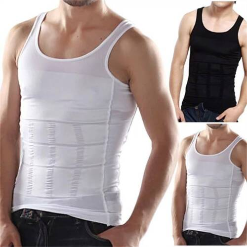 Männer Abnehmen Body Shaper Unterhemd Muskelshirt Bauchweg Mieder Weste Top Slim