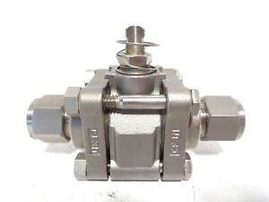 1 2 Swagelok SS 63ES8 EK W31 Ball Valve Tube Fitting 2500 PSIG