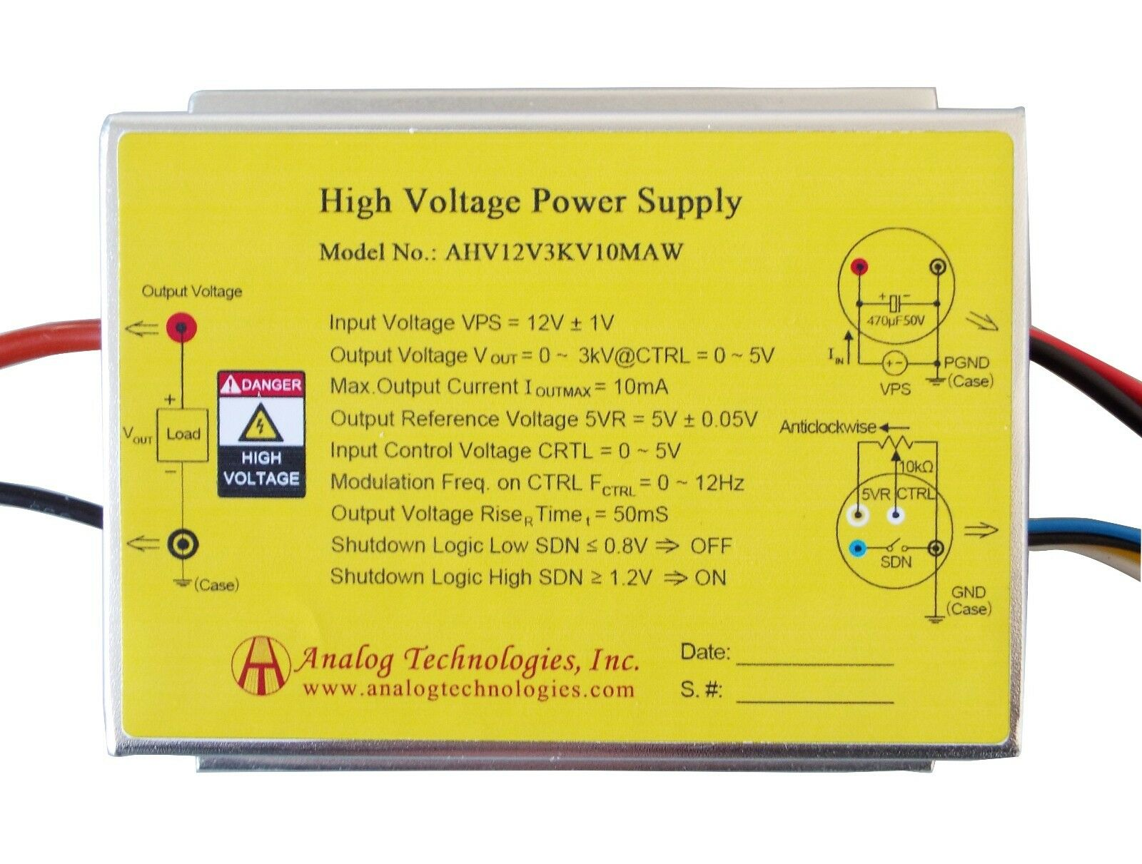 High Voltage Power Supply 3000v