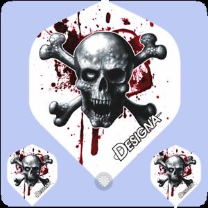 Blood Skull and Crossbones Totenkopf Flights Flyer Dart NEU Designa Flight