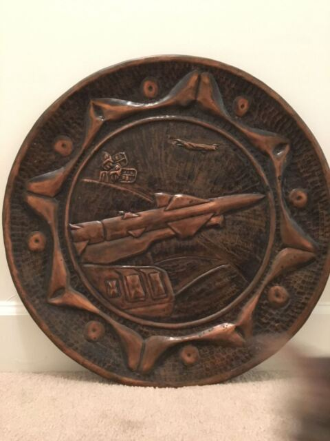 K9) Cold War Soviet Union Deployed East Germany Rocket Missile Battery Wall Disc