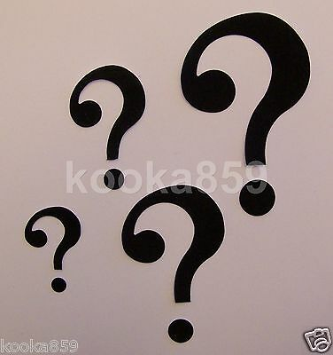 RIDDLER Costume QUESTION MARK SYMBOLS Multi Size patches Arkham Asylum Cosplay