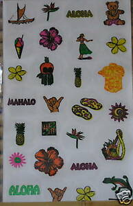 NIP Auntie/'s Hawaiian Stickers 27 Colorful Hawaiian Traditional Quilt Patterns