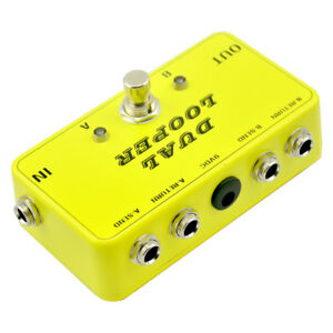2019-Double-Channel-AB-Line-Selector-Looper-Pedal-with1590B-Box-True-Bypass