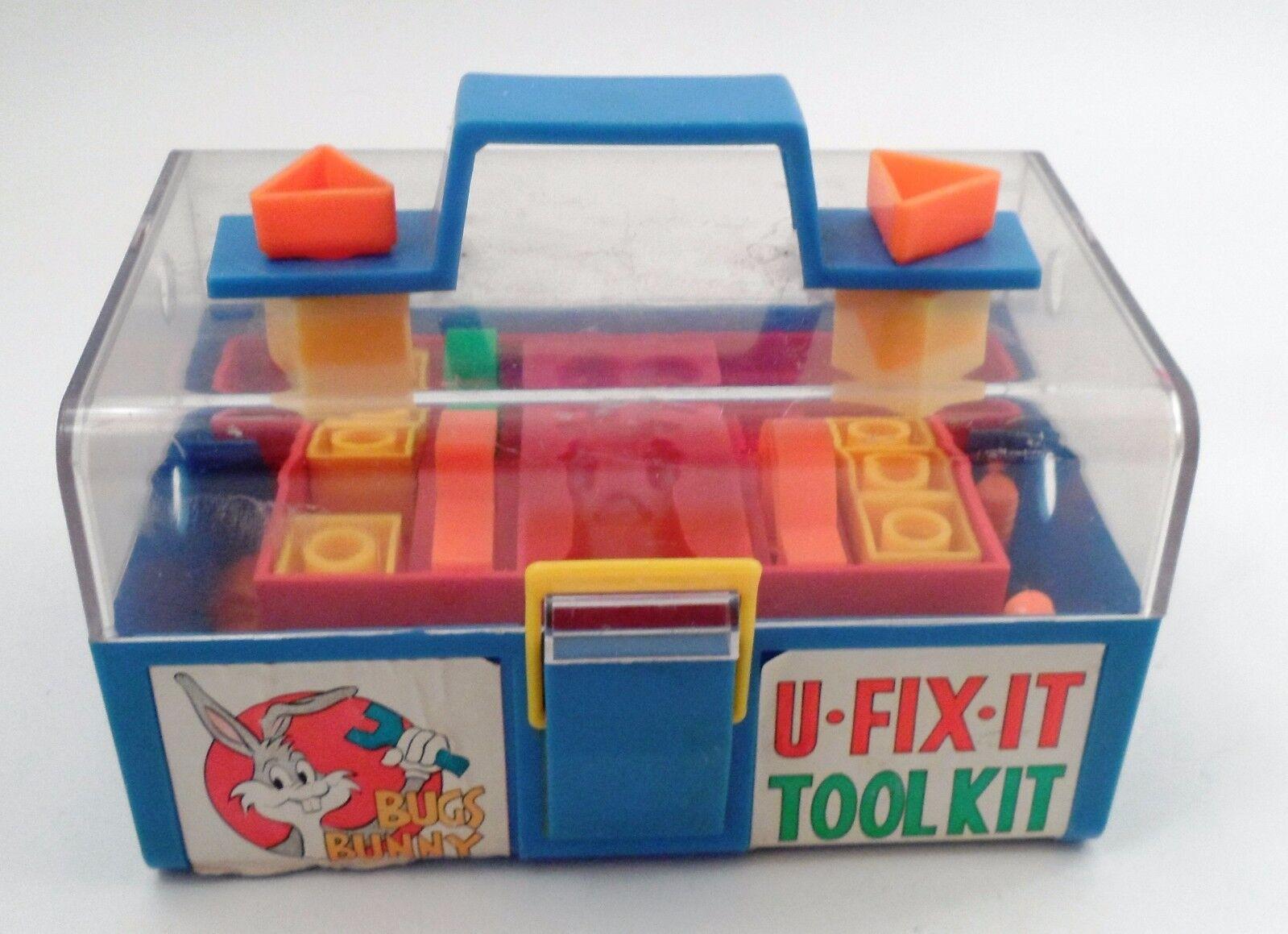 HTF 1970s Enco Bugs Bunny U Fix It Tool Kit w  Tools Parts Carrying Case Toolbox