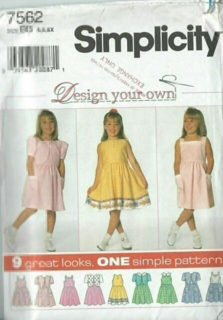 1473 SIMPLICITY TODDLERS/' KNIT HOODED DRESS /& TOP SZ 1//2-4