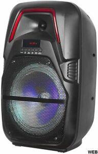 "Altavoz Acústica 8"" Batería Luz LED Bluetooth / SD/ USB/Radio LiGE-X11"