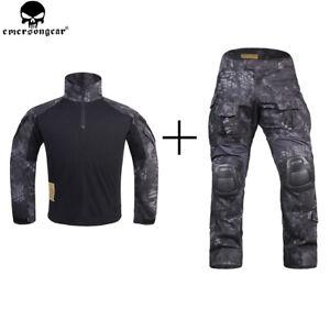 Men-Military-Camo-Tactical-Combat-Uniform-G3-Suit-Shirt-Pants-Set-Hunting-Jacket