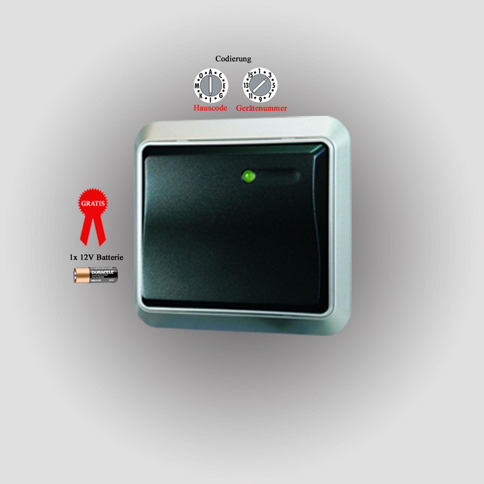 4 fach Funkschalter Set 1000W IP44 Außenbereich selbstlernend 3x Funk Steckdosen