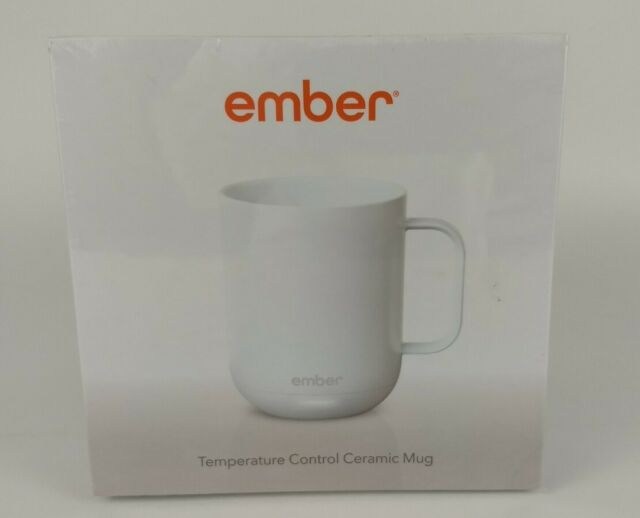 New Ember Starbucks 10Oz White Ceramic Mug Temp Controlled Coffee Tea Cup SEALED
